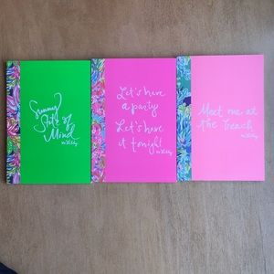 Lot of 3 Lily Pulitzer Notebooks